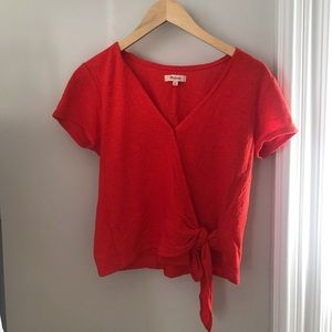 Madewell Texture and Thread Tie Top